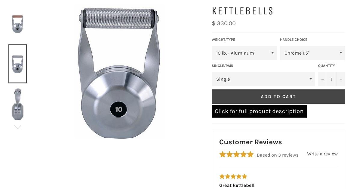 types of Kettlebells: Black Iron Strength Kettlebells